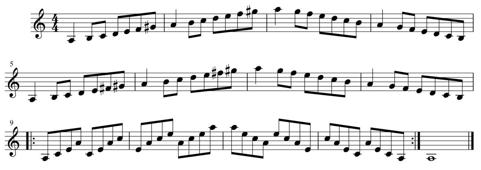 短調練習1-1