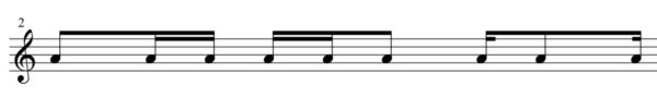 16分音符変形2