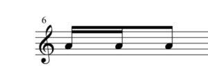 8分音符16分音符手順2