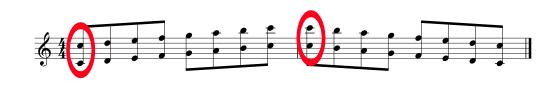 オクターヴ練習1